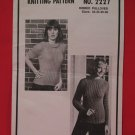 Vintage Mary Maxim Ribbed Pullover Sweater Knitting Pattern Adults