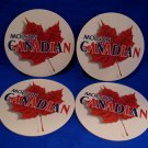 Molson Canadian Beer Coaster Canada Maple Leaf Souvenir set of 4