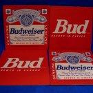 Budweiser King of Beers Beer Coaster Canada Souvenir set of 4