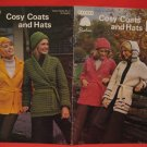 Patons Beehive Cosy Coats Sweater Jacket Hats Crochet and Knitting Pattern Ladies
