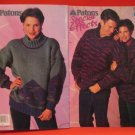 Patons Special Effects Coats Sweater Jacket Knitting Pattern Family