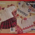 Patons Astra Aran Arran Sweaters Jacket Toque Mitts Knitting Pattern Ages 0 - 3 Years