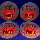 Molson Canadian Beach Party Beer Coaster Souvenir set of 4