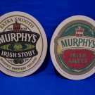 Murphys Irish Stout Amber Ireland Irish Beer Coaster Souvenir set of 2