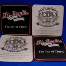 Mt. Begbie Revelstoke BC. Microbrewery Lager Ale Beer Coaster Souvenir set of 4