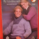 White Buffalo Canadian His Hers Pullover Sweater Knitting Pattern Adults