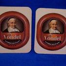 Vondel Brown Ale Belgian Beer Drink Coaster Souvenir set of 2