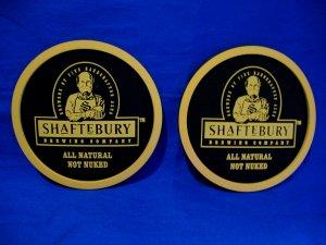 Shaftebury Brewing Company Beer Drink Coaster Souvenir set of 2