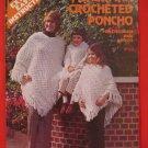 Vintage Fisherman Poncho Crocheted Crochet Pattern Family