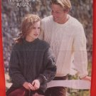 Traditional Aran Arran Pullover Sweaters Knitting Pattern Adults