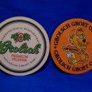 Grolsch Groet Oranje Pilsner Beer Drink Coaster Souvenir set of 2