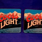 Coors Light You Can't Fake Smooth Beer Drink Coasters Souvenir set of 2