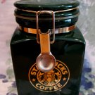 Starbucks Coffee Canister Tea Green Canister Mermaid Souvenir Collector Vintage