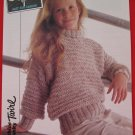 Vintage Patons Roll Neck Sweater Knitting Pattern Children Sizes 22- 32 Inches