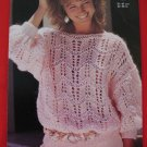 Vintage Jaeger Slash Neck Sweater Knitting Pattern Ladies Sizes 32 - 38