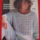 Vintage Jaeger Eyelet Sweater Knitting Pattern Ladies Sizes 30 - 40