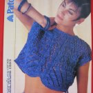 Vintage Patons Eyelet Pattern Crop Sweater Top Knitting Pattern Ladies Sizes 30 - 38