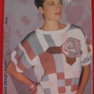 Vintage Patons Italian Roses and Geometrics Sweater Knitting Pattern Ladies Sizes 32 - 38