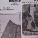Vintage Crocheted Granny Squares Crochet Patterns set of 2