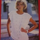 Jaeger Vintage 1984 Sleeveless Top with V Inset Sweater Knitting Pattern Ladies Sizes 32 - 40