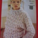 Jaeger Vintage 1984 Striped Patterned Sweater Knitting Pattern Ladies Sizes 32 - 40