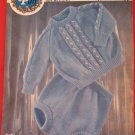 Peter Pan Boys Suit Sweater Trousers Knitting Pattern Baby Sizes 18 - 22 Inches