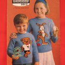 Double Knitting Rabbit Teddy Bear Sweaters Knitting Pattern Children Sizes 23 - 27 Inches