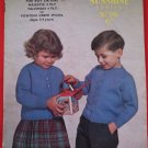 Vintage Sirdar V or Round Neck Cardigan Sweaters Knitting Pattern Children Ages 3 - 4 years old