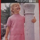 Hayfield Girls Jumper Suit Skirt Knitting Pattern Children Sizes 24 - 30 Inches