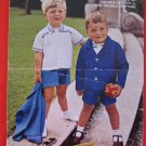 Vintage Ayr Blazer Shorts Shirt Sweaters Double Knitting Pattern Children Sizes 22 - 26 Inches