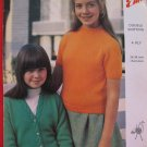 Vintage Emu 4 Ply or Double Knitting Pattern Girls Jumper and Jacket Sizes 26 - 34 Inches