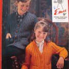 Vintage Emu Triple Knit or Double Knitting Pattern Childrens Sweater Jacket Sizes 25 - 32 Inches