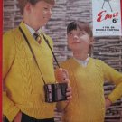 Vintage Emu 4 Ply or Double Knitting Pattern Childrens Pullover Sweaters Sizes 26 - 34 Inches
