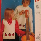 Vintage Emu Double Knitting Pattern Childrens Pullover Sweater Vest Ladybugs Sizes 24 - 34 Inches