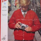 Vintage Emu Double Knitting or Triple Knit Pattern Childrens Zippered Sweater Sizes 24- 32 Inches