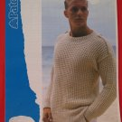 Patons Mens Sweater with Shoulder Tabs Vintage Knitting Patterns Mens Sizes 34 - 42""