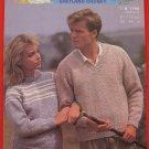 """Patons Moorland Shetland Chunky Sweater Vintage Knitting Patterns Adults Sizes 32"""" - 44"""""""