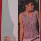 """Patons Lady's Textured Slipover Sweater Vintage Knitting Patterns Ladies Sizes 28"""" - 38"""""""
