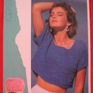 "Patons Lady's Blister Effect Sweater Top Vintage Knitting Patterns Ladies Sizes 30"" - 40"""