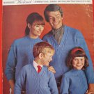 Vintage Spinrite Yarns Family V and Crew Neck Sweater Knitting Pattern Adults Childrens