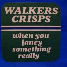 Walkers Crisps Beer Coaster Vintage British Souvenir Vintage Collector Mat Collectible