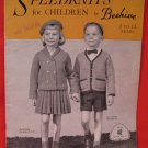 Beehive Vintage Knitting Patterns 2 - 12 Years Old Children