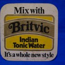 Britvic Indian Tonic Water Gin Drink Beer Coaster Souvenir Vintage Collector