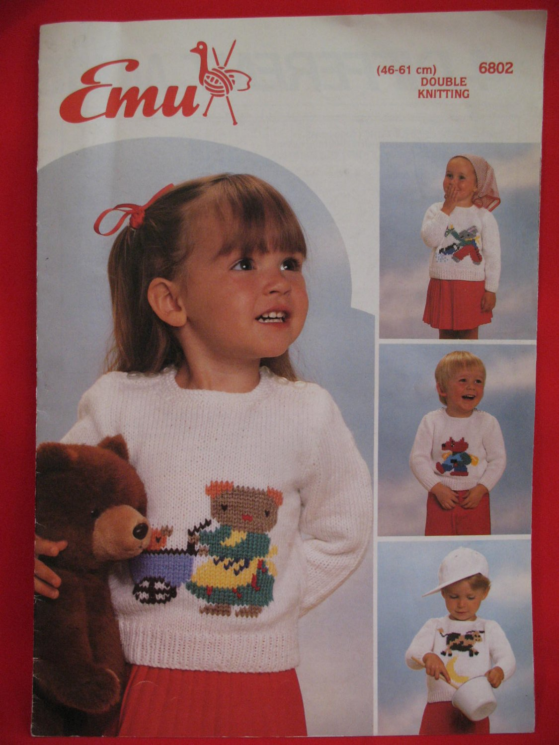 Emu Double Knitting Patterns Nursery Rhyme Sweaters Baby Children Sizes 46 - 61 CM.