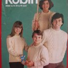 Robin Vintage Aran Arran Knitting Patterns Adults Children Family Sweaters