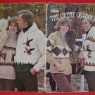 "Patons Beehive Vintage Knitting Patterns Adults Cowichan Sweaters 32"" - 46"""