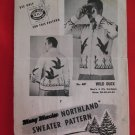 Mary Maxim Northland Cardigan Sweater Vintage 1954 Knitting Patterns Mens Wild Ducks Hunting