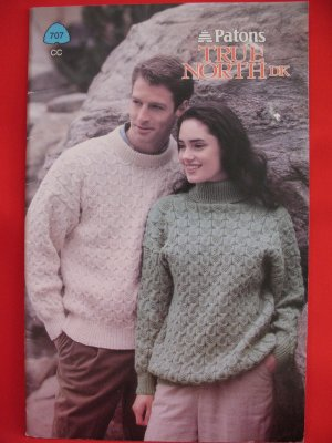 Patons True North Knitting Patterns ADULTS Sizes Cardigans Sweaters Pullovers