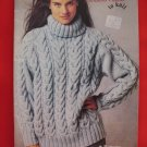 Patons Wool Chunky Knitting Patterns ADULTS Cardigans Sweaters Pullovers