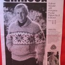 Chinook Cowichan Style Vintage Knitting Patterns MENS ADULTS Pullover Sweater